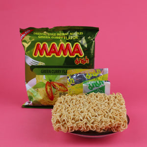 MAMA THAI INSTANT NOODLES GREEN CURRY FLAVOR