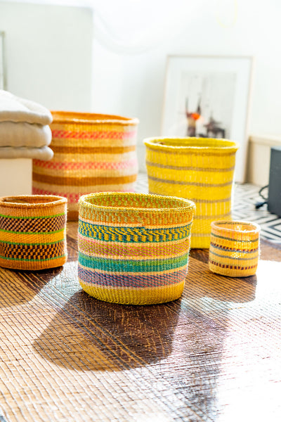 Kasigau Tsavo Sunrise Sisal Basket Medium_2