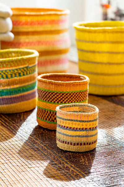 Kasigau Tsavo Sunrise Sisal Basket X-Small_2