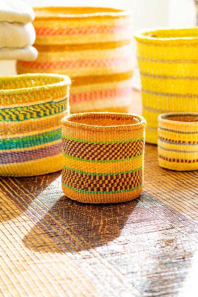 Kasigau Tsavo Sunrise Sisal Basket Small_2