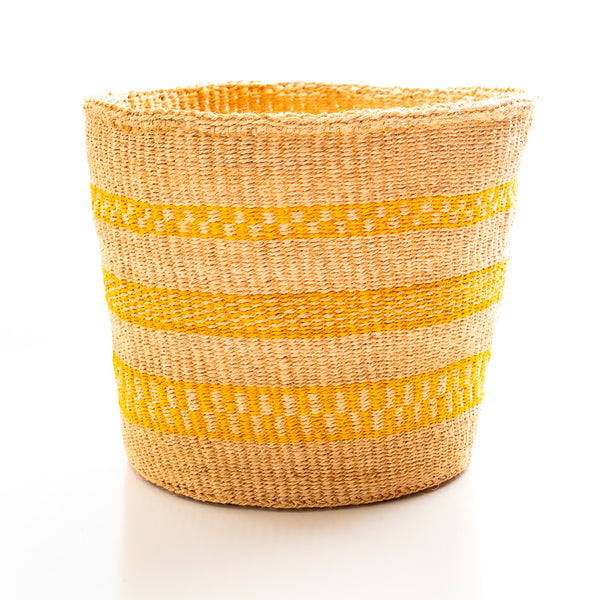 Kasigau Tsavo Sunrise Sisal Basket Large
