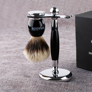 2IN1 Shaving Brush and Stand for DE Safety Razor Straight Razor Gift Set