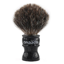 Load image into Gallery viewer, Anbbas Super Black Badger Shaving Brush with Resin Handle Medium Size Traditional Wet Shaving for Men
