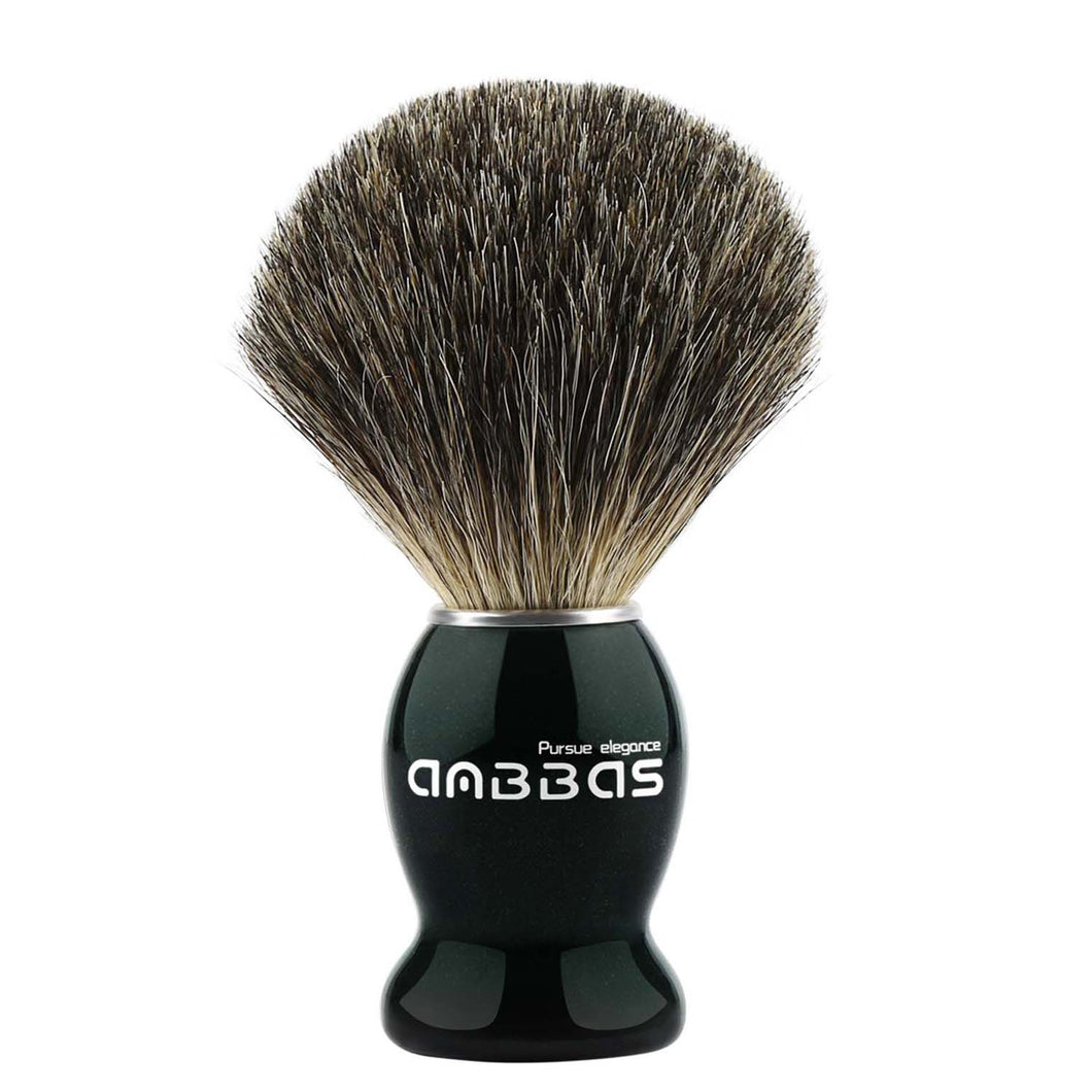 Anbbas Shaving Brush, Fine Badger Hair Brush with Natural Solid Wood Handle for Men Traditional Wet Shaving Starer