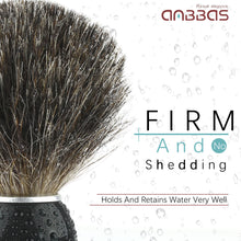 Load image into Gallery viewer, Anbbas Shaving Brush, Fine Badger Hair Brush with Natural Solid Wood Handle for Men Traditional Wet Shaving Starer