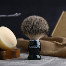 Load image into Gallery viewer, Shaving Set, 4in1 Anbbas Men Fine Badger Bristle Shave Brush Black Wood Handle,Stainless Steel Shaving Stand and Soap Cup with Shaving Soap Bar Natural Organic for Perfect Wet Shaving
