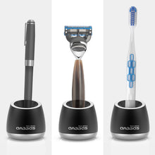 Load image into Gallery viewer, Anbbas Razor Holder Stand, 2pcs Aluminum Alloy Anti-Slip Multi-Purpose Stand for Toothbrush Signing Pen Butterfly Safety Razor Base Stand