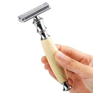 Alloy Safety Razor and Holder with 10 Double Edge Razor Blades