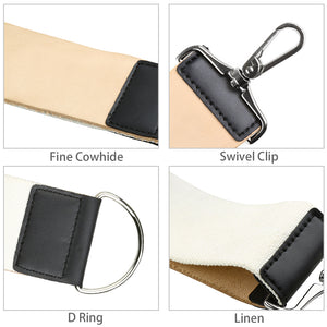 Razor Strop Leather Barber Strop Linen Stropping Belt Shaving Sharpener