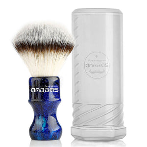 Synthetic Badger Shaving Brush with Resin Handle Nylon Bristles Hair Anbbas Lathering Foam Brush for Men Professional Wet Shaving(Hair Knot: 24 mm) (Blue)