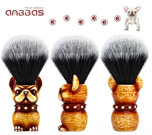 Synthetic Badger Shaving Brush with Travel Case Close Shave Set(1pc)