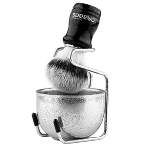 Anbbas Synthetic Badger Shaving Brush Set, 3IN1 Shaving Kit with Stainless Steel Shaving Stand and Bowl for Men Wet Close Shave