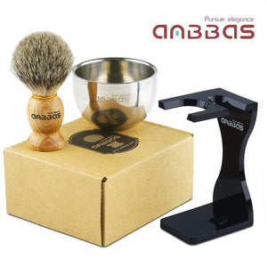 3in1 Shaving Set,Brush and Shaving Bowl,Acrylic Stand for DE Razor