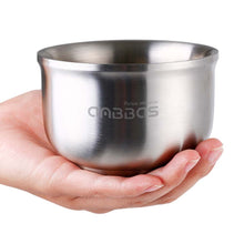 Load image into Gallery viewer, Anbbas Shaving Bowl, Quality 304 Stainless Steel 3 Layers Soap Bowl, Keep Shaving Foam Warm for Men Women Closest Wet Shave