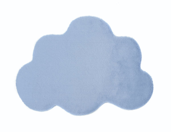 Lustrous Faux Fur Cloud Rug - Blue Breeze