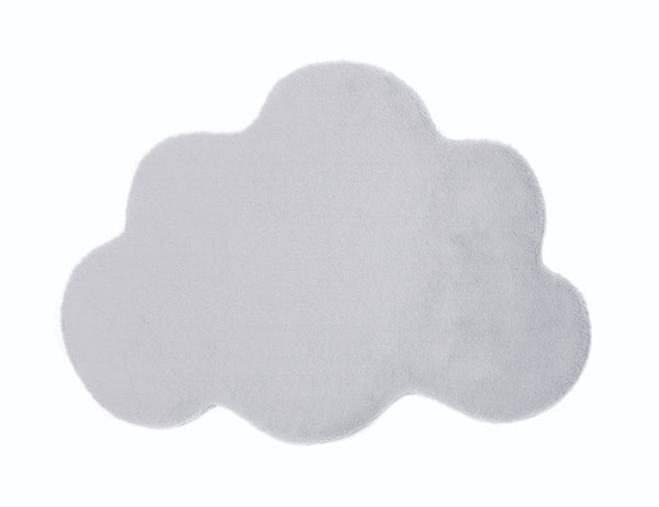 Lustrous Faux Fur Cloud Rug - Silver