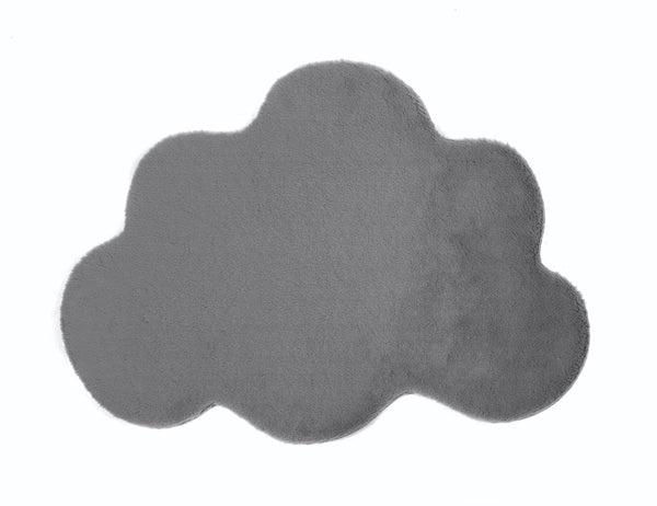 Lustrous Faux Fur Cloud Rug - Thunder Grey