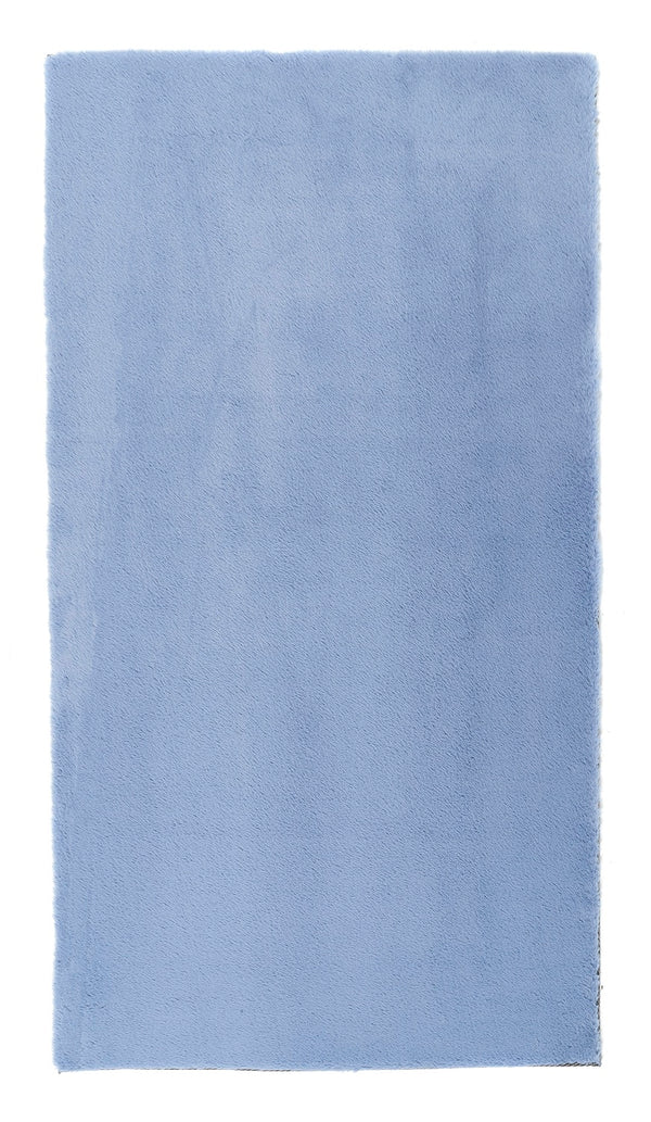 Lustrous Faux Fur Rug - Blue Breeze