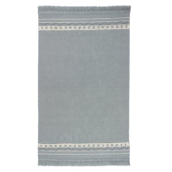Rustic Trim Rug ‰ÛÒ Sky Grey  Cream