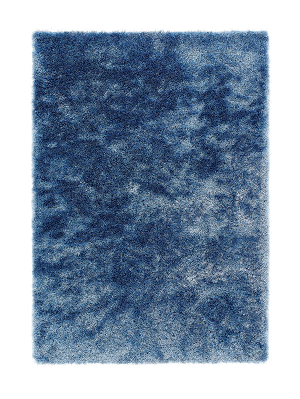 Shimmer Shaggy Rug - Denim Blue