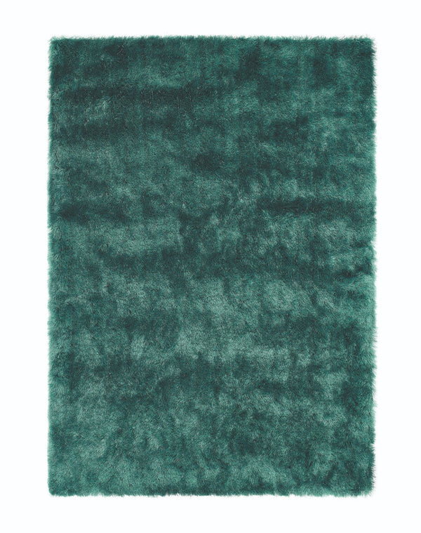 Shimmer Shaggy Rug - Forest Green