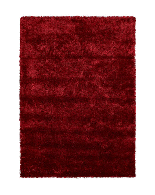 Shimmer Shaggy Rug - Red