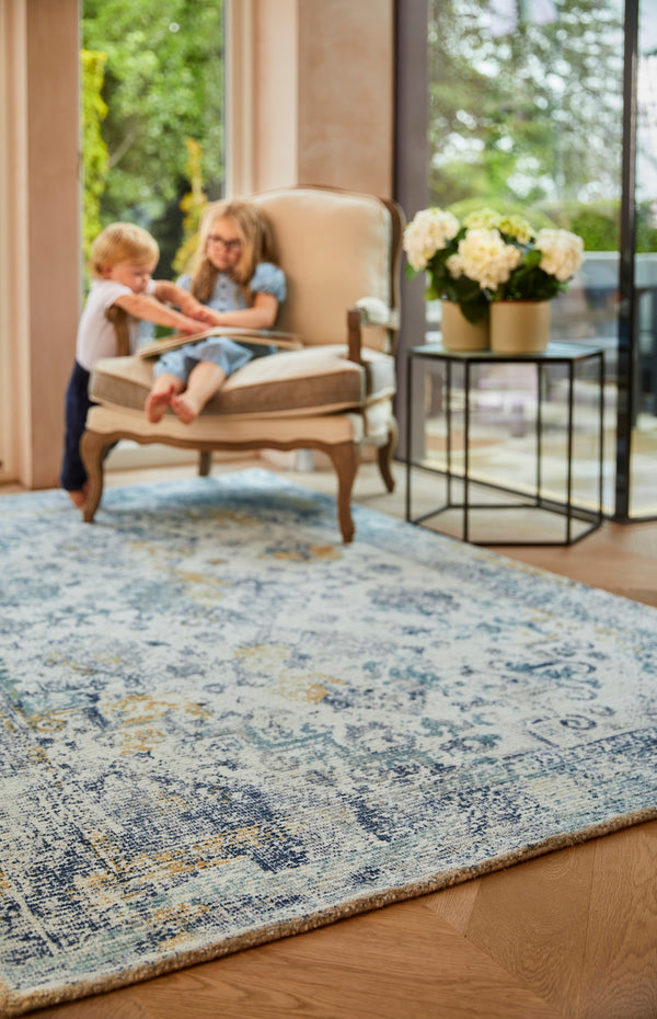 Vogue Vintage Rug - Blue  Ochre