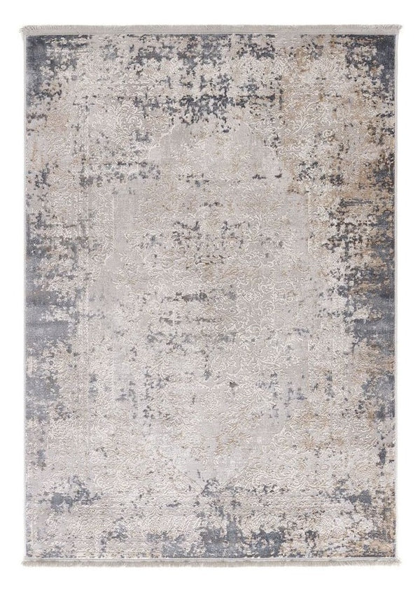 Aura Vintage Medallion Rug - Grey/Blue