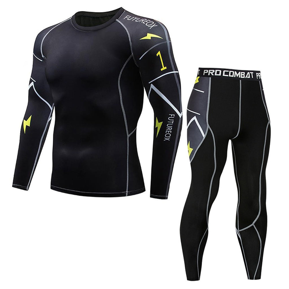 Mens Sports Running Set Compression - PinnacleFitness