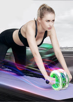 Ab Roller with Elastic Rope Mat - PinnacleFitness