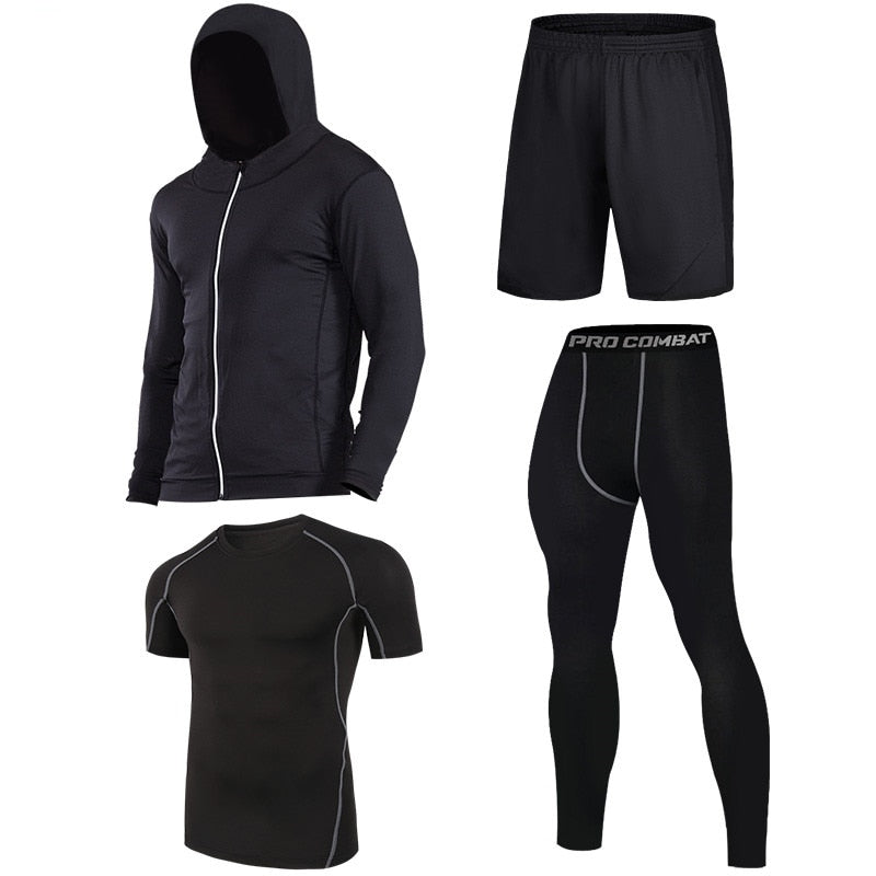 Men Quick dry Running Sports Set - PinnacleFitness