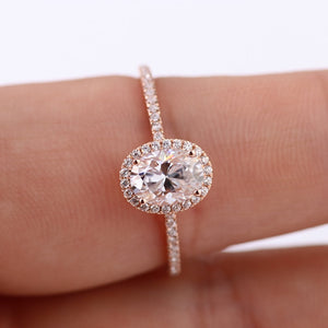 Custom 18 K White Gold moissanite diamond Ring wedding jewelry Ring