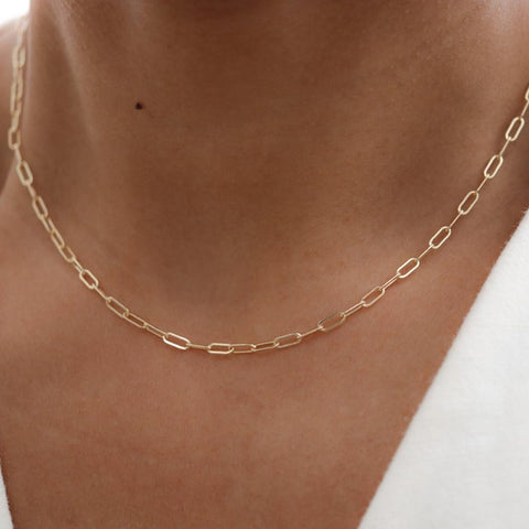 14K Gold Filled Necklace Handmade Gold Choker Boho Chain Collier Femme Kolye Collares Women Jewelry Necklace for Women
