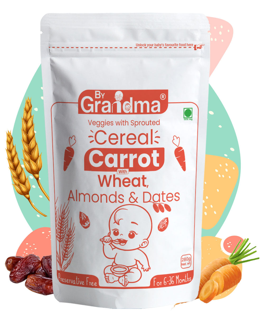 ByGrandma® Sprouted Wheat, Carrot with Almonds and Dates Porridge Mix
