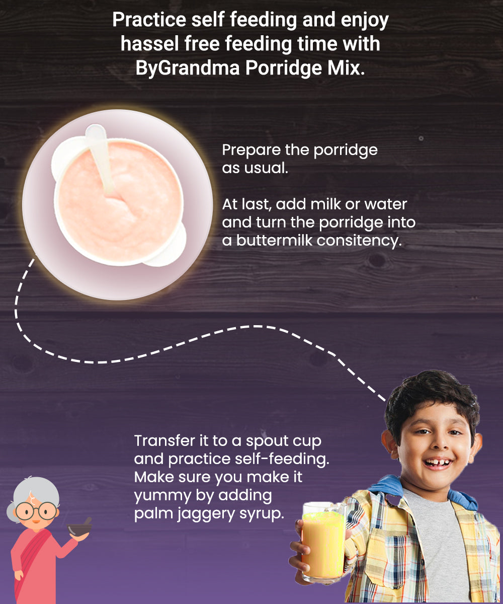 ByGrandma® Sprouted Multigrain Mix with Walnuts For Brain Development - ByGrandma
