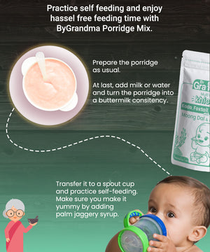 ByGrandma® Sprouted Moong Dal and Rice Porridge Mix - ByGrandma