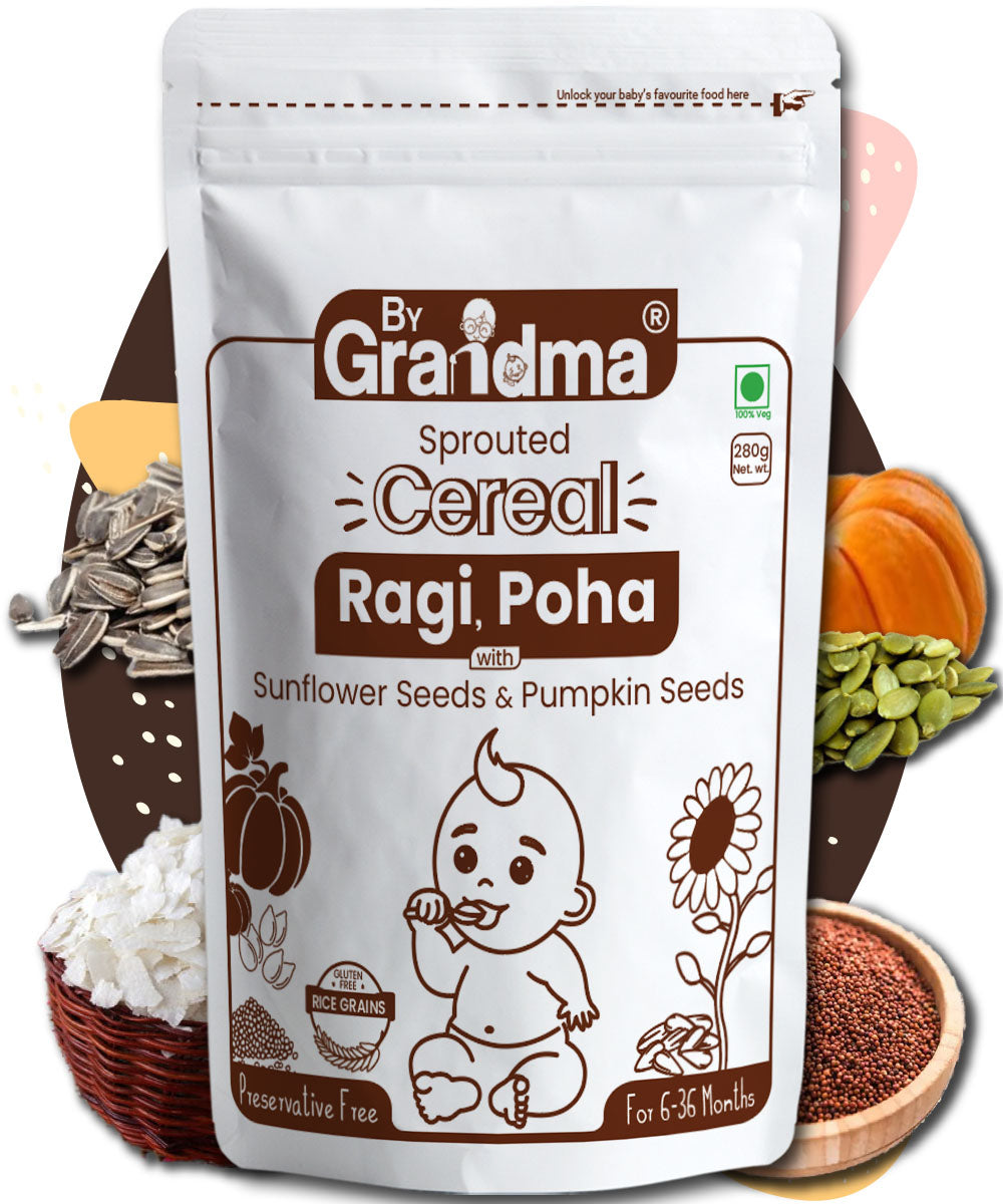ByGrandma® Sprouted Ragi, Poha and Seeds Porridge Mix