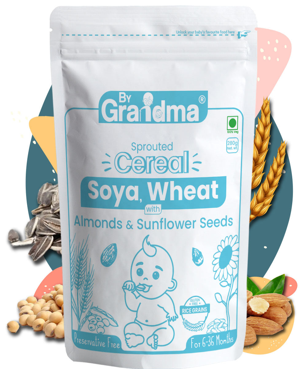 ByGrandma® Soya, Wheat, Almonds, Sunflower Seeds and Roasted Gram Porridge Mix