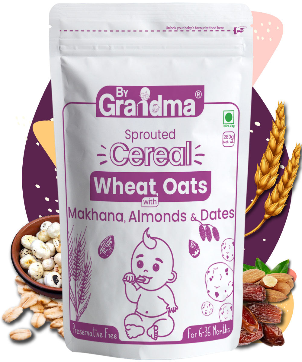 ByGrandma®  Health Porridge Mix - Wheat, Oats Makhana, Dates and Almond - ByGrandma