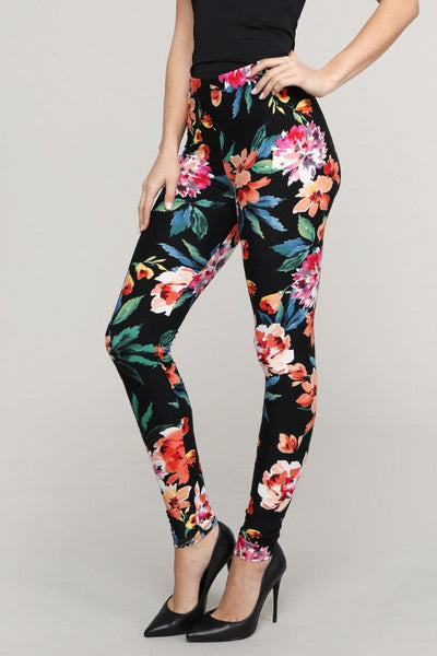 Floral & Tie Dye Leggings Pants