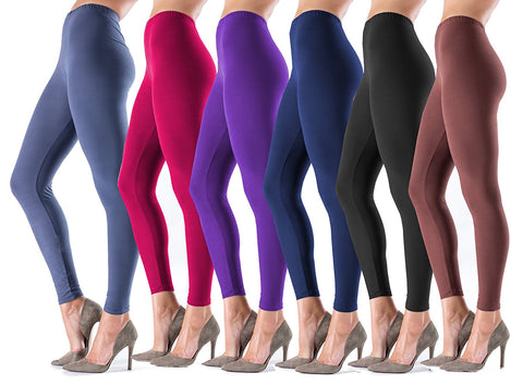 Lush Moda Extra Soft Leggings - Variety of Colors