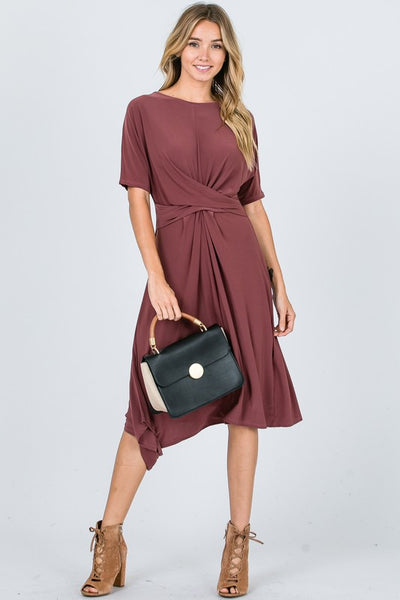 Drape Front Fashion Dress