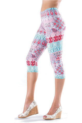 Lush Moda Extra Soft Capri Leggings - Variety of Prints