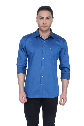 Solid Violet Cotton Shirt