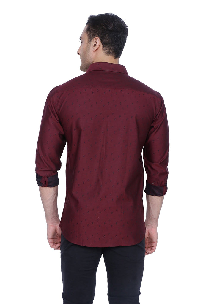 Classic Maroon Cotton Shirt