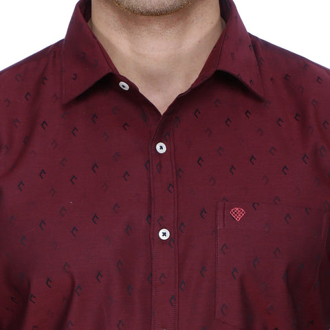 Image of Classic Maroon Cotton Shirt