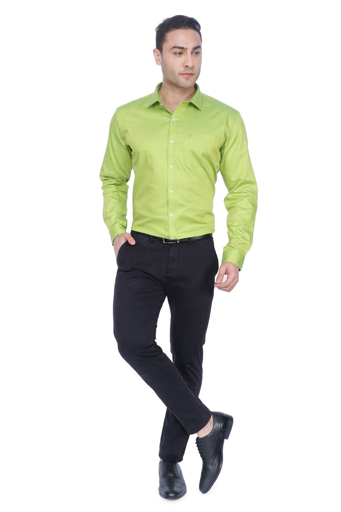 Pitch Green and Yellow Cotton Shirt