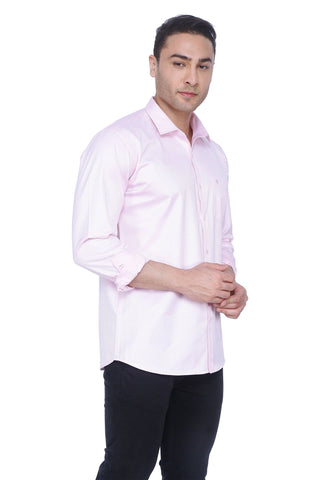 Baby Pink Cotton Shirt