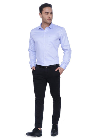 White & Blue Cotton Shirt
