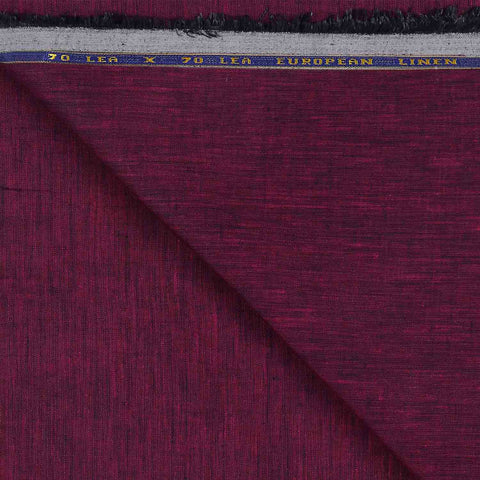 Image of Maroon & Black Linen